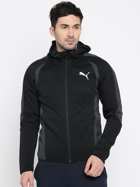 Puma Men Black Solid Evostripe Ultimate FZ Sporty Jacket
