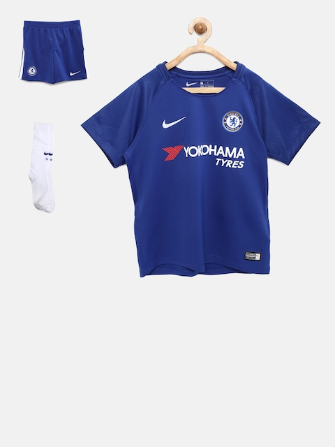 Nike Unisex Blue CFC Printed Sports T-shirt with Shorts & Socks
