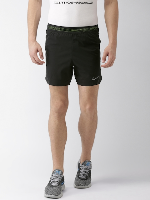 Nike Men Black Solid Regular Fit Sports Shorts