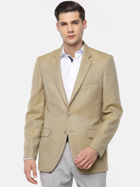 Raymond Beige Contemporary Fit Casual Single-Breasted Blazer