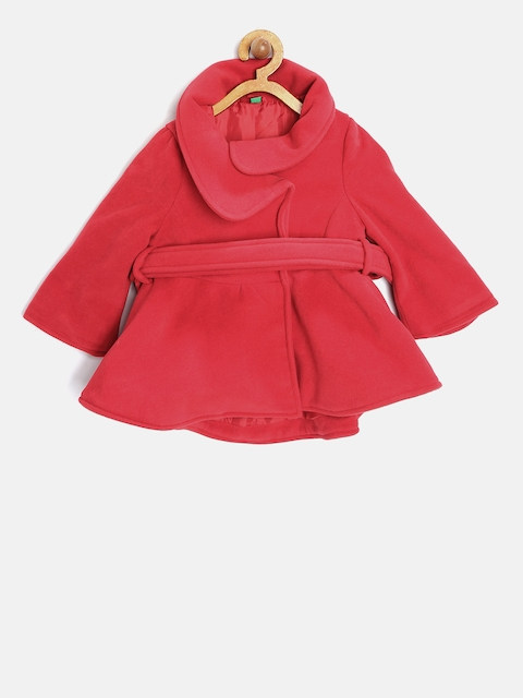 United Colors of Benetton Girls Red Flared Coat