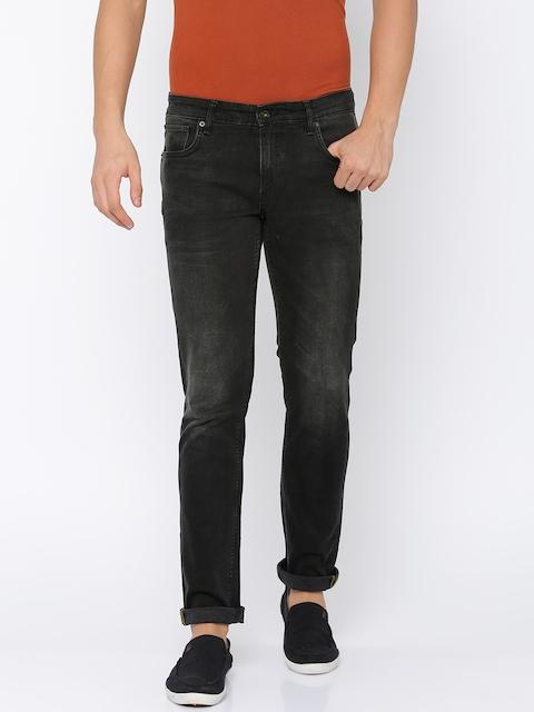 Indian Terrain Men Black Brooklyn Slim Fit Low-Rise Clean Look Stretchable Jeans