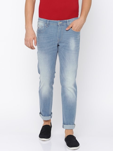 Indian Terrain Men Blue Slim Fit Low-Rise Clean Look Stretchable Jeans