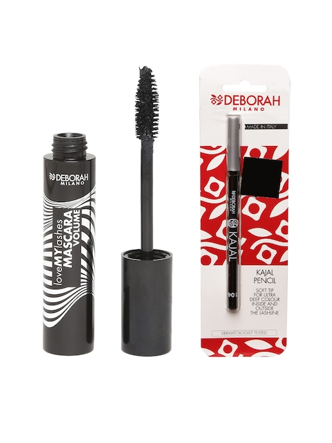 Deborah Milano Love My Lashes Black Volume Mascara & Kajal Pencil