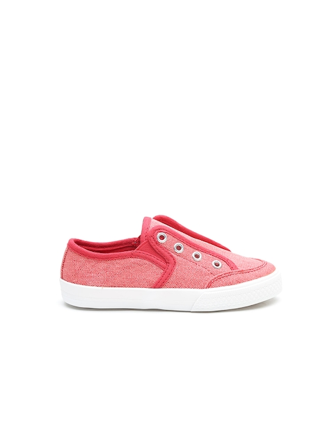 United Colors of Benetton Boys Red Slip-Ons