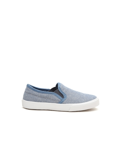 United Colors of Benetton Boys Blue Slip-On Sneakers