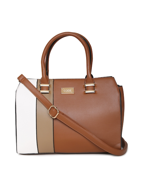 CODE by Lifestyle Brown Colourblocked Shoulder Bag