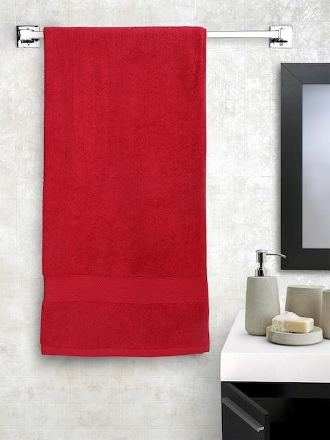 Portico New York Red Cotton 550 GSM Bath Towel