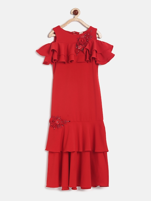 Tiny Girl Red Embellished Maxi Dress