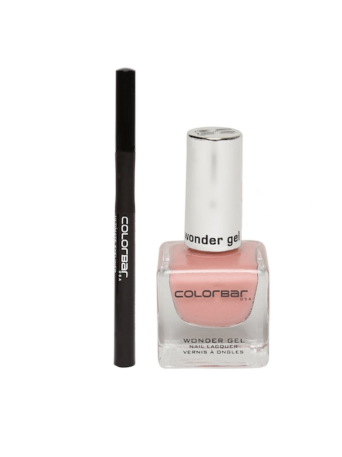 Colorbar Ultimate Black Eyeliner 001 & Sweet Sand Wonder Gel Nail Lacquer Set