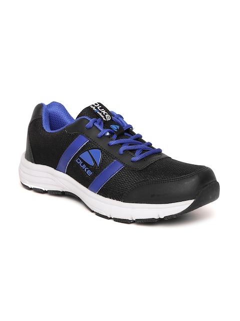 Duke Men Black & Blue Running Shoes
