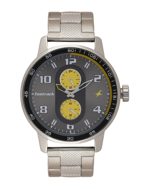 Fastrack Men Gunmetal-Toned Multifunction Analogue Watch 3159SM02