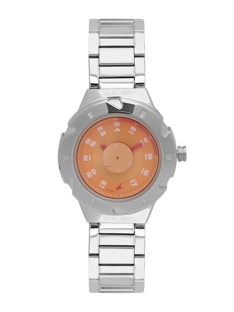 Fastrack Women Orange Analogue Watch 6157SM02