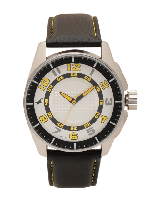 Fastrack Men Silver-Toned Dial Watch 3089SL11