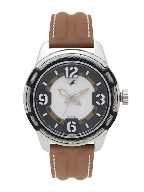 Fastrack Men Off-White Analogue Watch NJ3157KL01_BBD