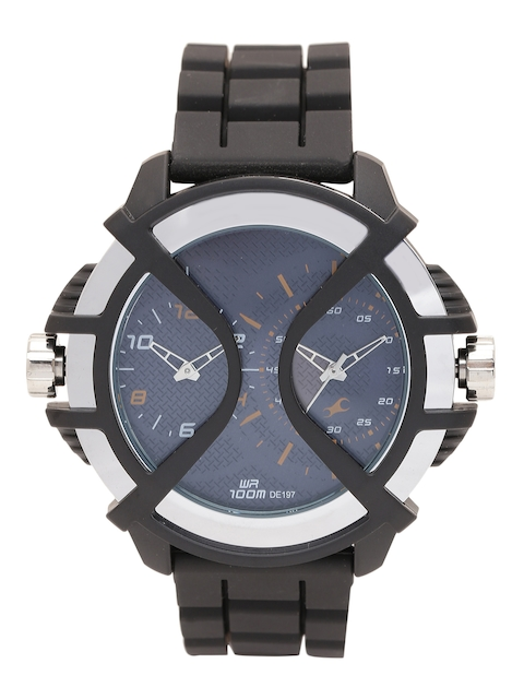 Fastrack Men Blue Dual Dial Analogue Watch NJ38016PP01C