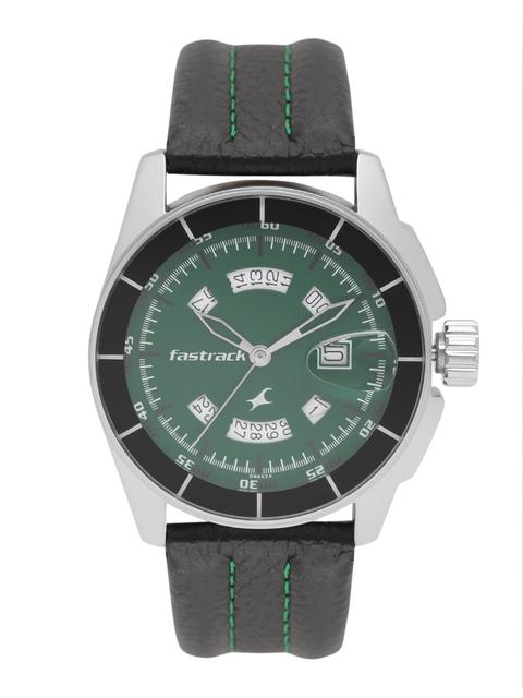 Fastrack Men Green Analogue Watch NJ3089SL03