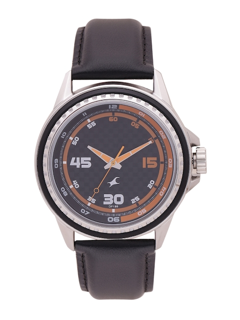 Fastrack Men Black Analogue Watch