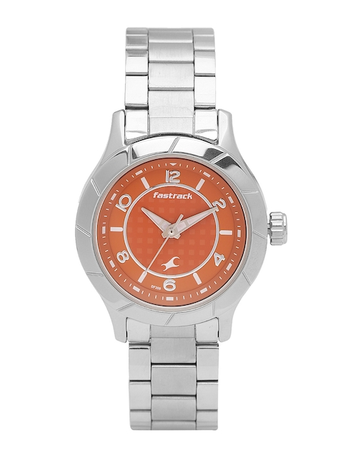 Fastrack Women Orange Analogue Watch