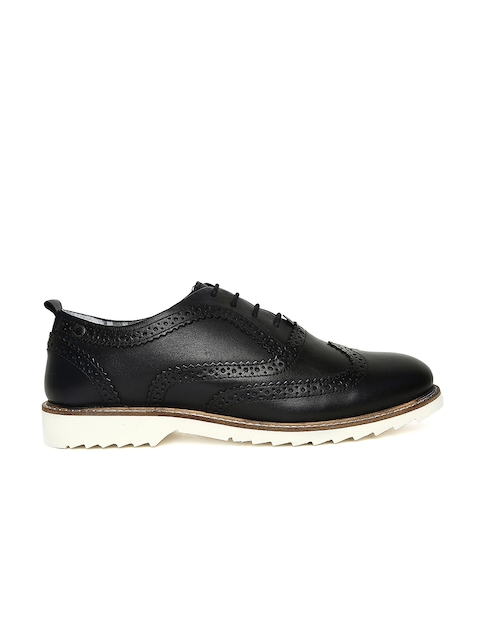 Jack & Jones Men Black Leather Derbys