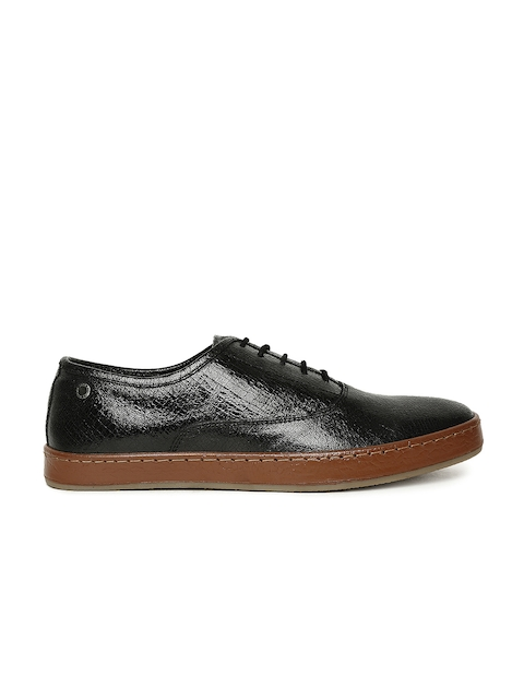 Jack & Jones Men Black Leather Oxfords