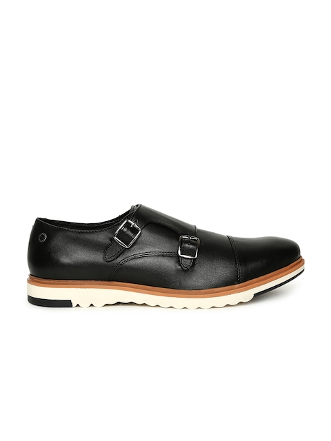 Jack & Jones Men Black Leather Monks