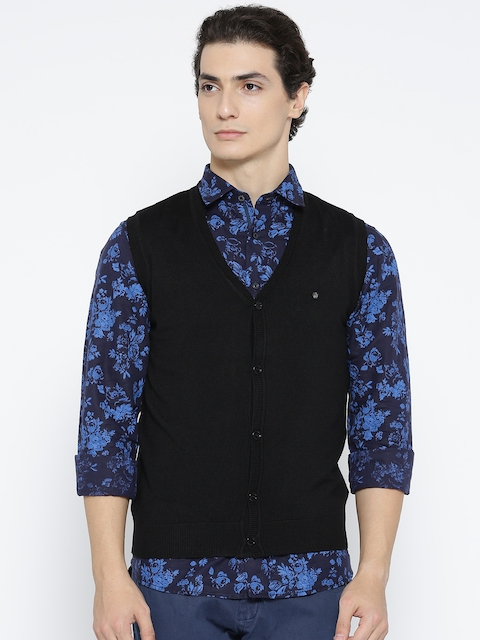 Blackberrys Men Black Solid Cardigan