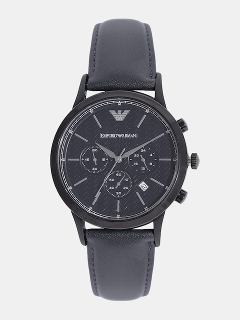 Emporio Armani Men Navy Blue Analogue Watch