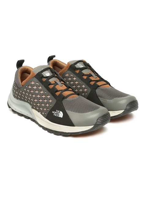 The North Face Men Grey & Black Mountain Hiking Shoes