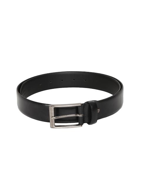 Peter England Men Black Solid Belt