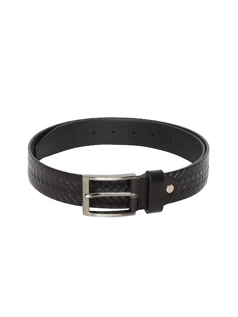 Peter England Men Black Braided Belt