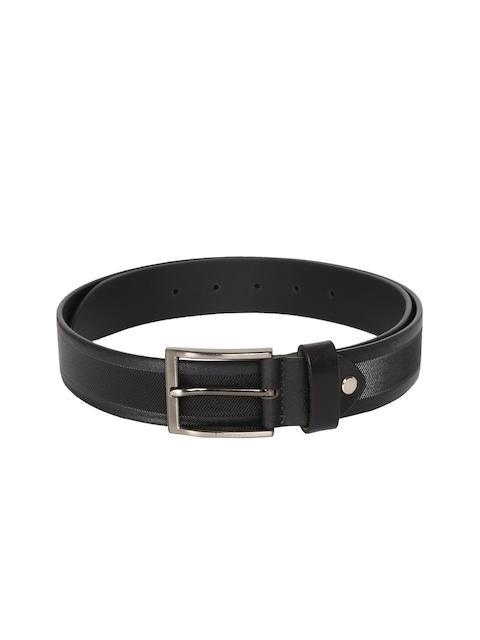 Peter England Men Black Textured Belt