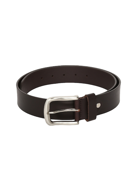 Peter England Men Coffee Brown Solid Belt