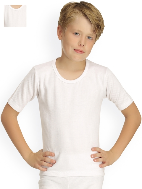 Kanvin Pack of 2 White Thermal T-shirts 2330W2330