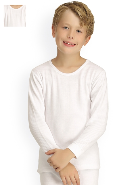 Kanvin Pack of 2 White Thermal T-shirts 2340W2340