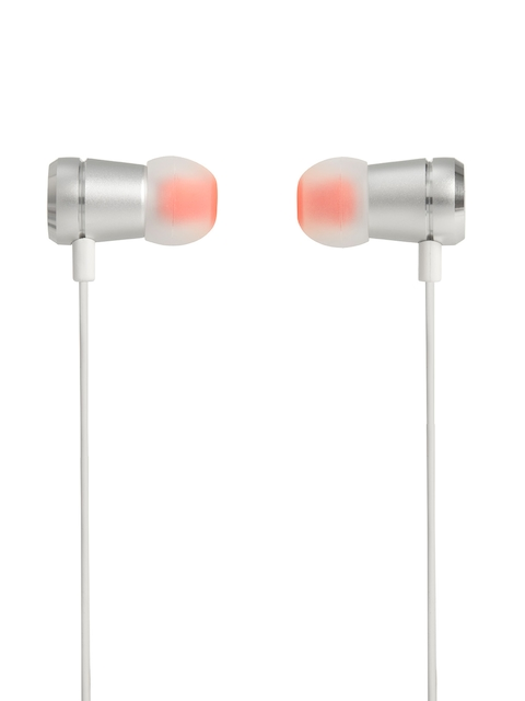 JBL Silver-Toned In-Ear Wired Headphones T290SIL