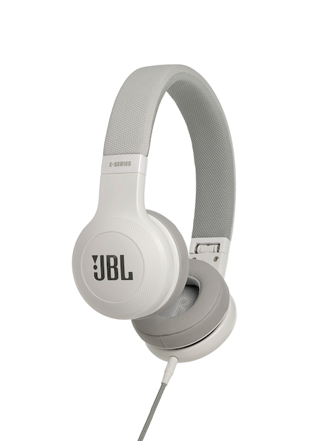 JBL White & Grey On-Ear Wired Headphones with Mic E35