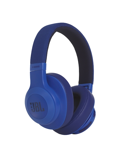 JBL Blue On-Ear Wireless Headphones with Mic E55BT