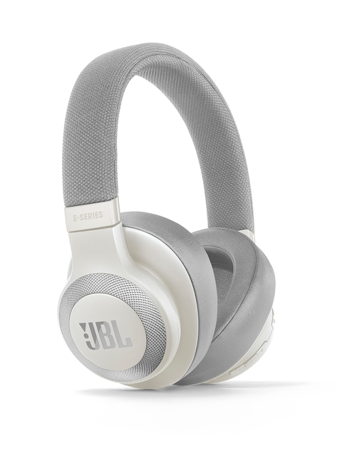 JBL Unisex White & Silver-Toned On-Ear Wireless Headphones E65BTNCBLU