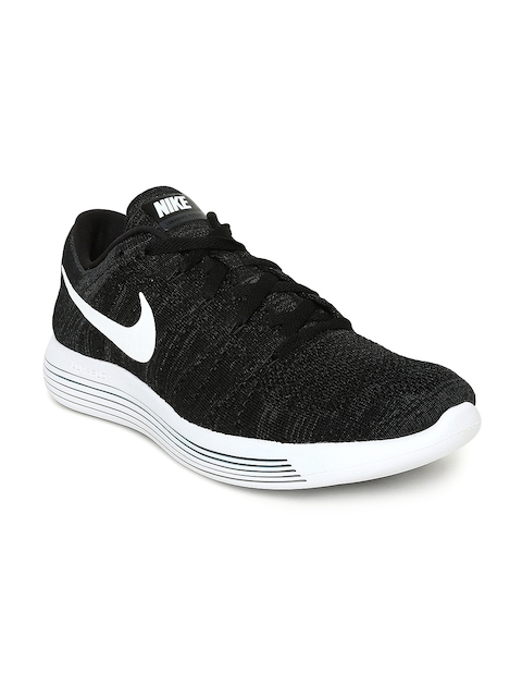 Nike Men Black LUNAREPIC LOW FLYKNIT Running Shoes