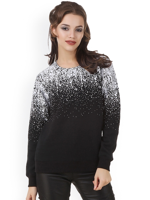 Texco Women Black Printed Sweatshirt