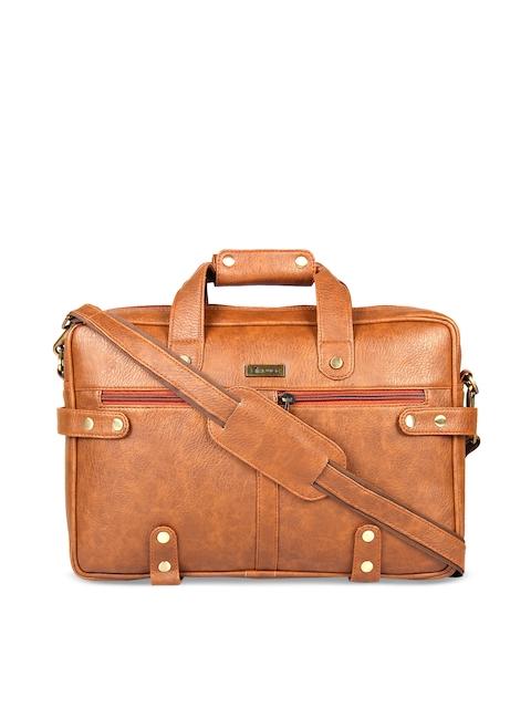 Impulse Unisex Tan Textured Laptop Bag