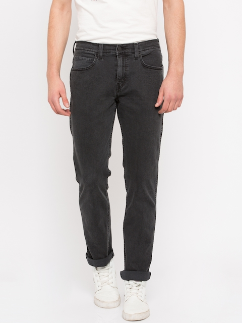 Levis Men Black Slim Fit Mid-Rise Clean Look Jeans