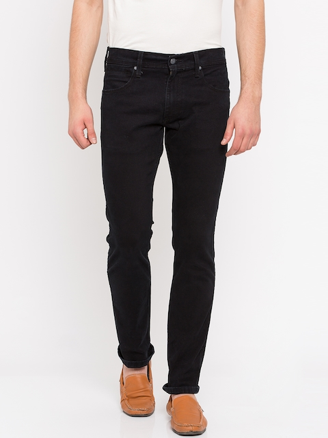 Levis Men Black Skinny Fit Mid-Rise Clean Look Jeans