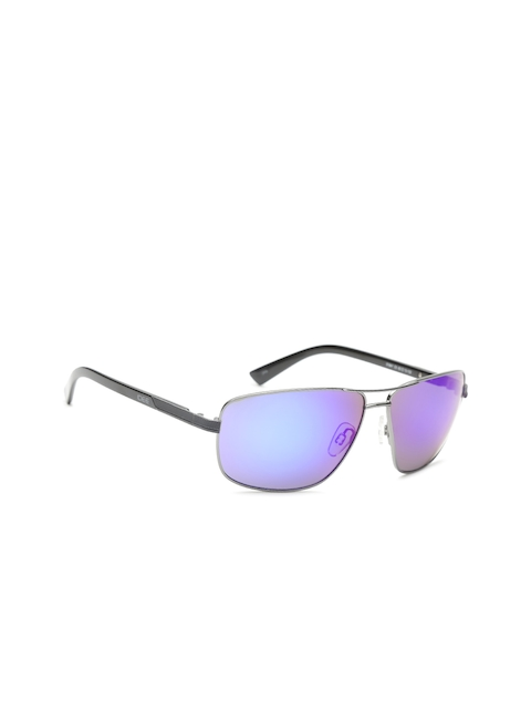 I DEE Unisex Mirrored Rectangle Sunglasses EC12