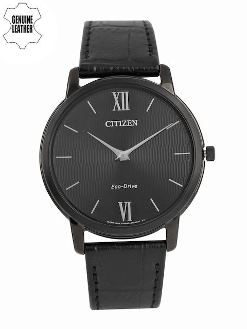 Citizen Eco-Drive Men Black Analogue Watch AR1135-10E