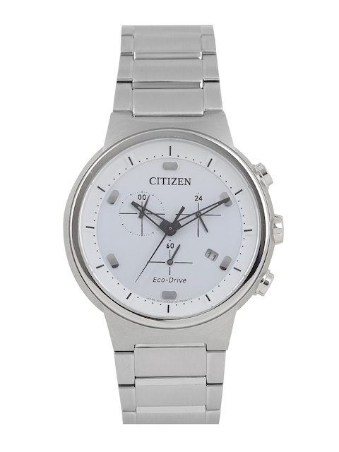 Citizen Men White Eco Drive Analogue Watch AT2400-81A