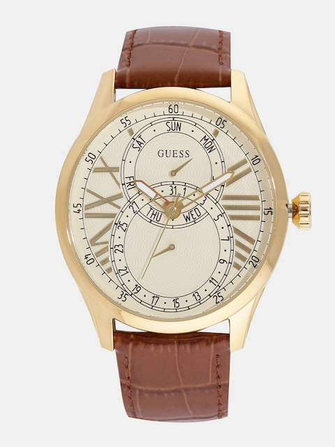 GUESS Men Cream-Coloured Multifunction Analogue Watch W1042G2