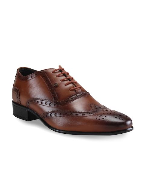 Franco Leone Men Tan Brown Formal Oxford Shoes