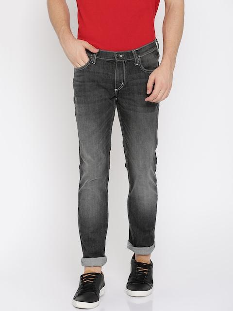 Lee Men Black Luke Skinny Fit Low-Rise Clean Look Stretchable Jeans